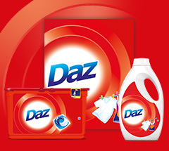 6,000 savvy circlers experienced the dazzling cleaning power of Daz for Whites and Colours