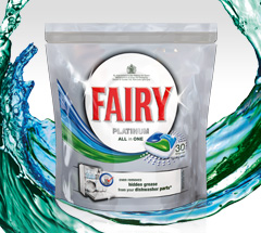 5,000 savvy circlers experienced the grease-defying Fairy Platinum dishwasher tablets!