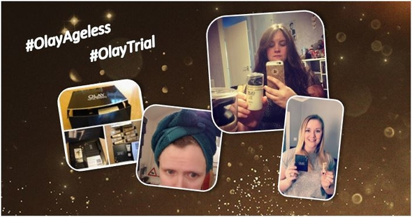 Spreading the news online with #OlayAgeless and #OlayTrial