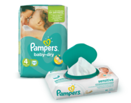 Pampers Baby Dry and Sensitive Wipes