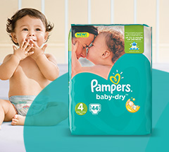 1,000 savvy circle parents tested Pampers Baby Dry, with its three absorbing channels to spread wetness evenly and lock it away better for less wet bulk in the morning.